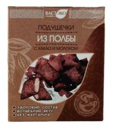 Подушечки из полбы с какао и молоком
